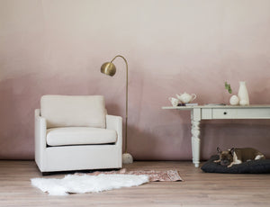 soft blush ombre wallpaper