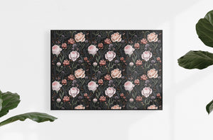 rose art print dark