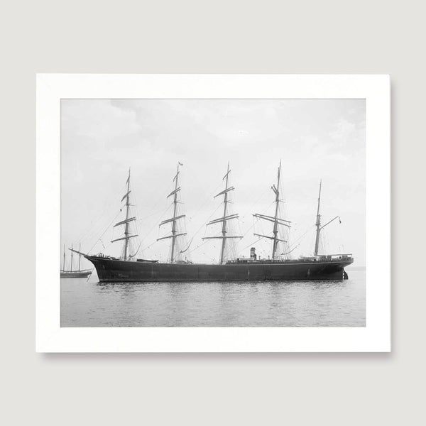 antique five masted ship