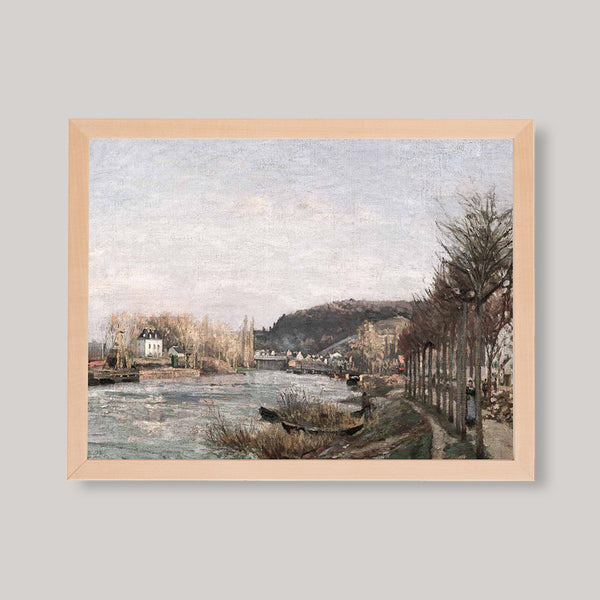 Seine at Bougival Art Print
