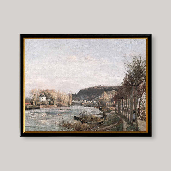 antique art print seine at bougival