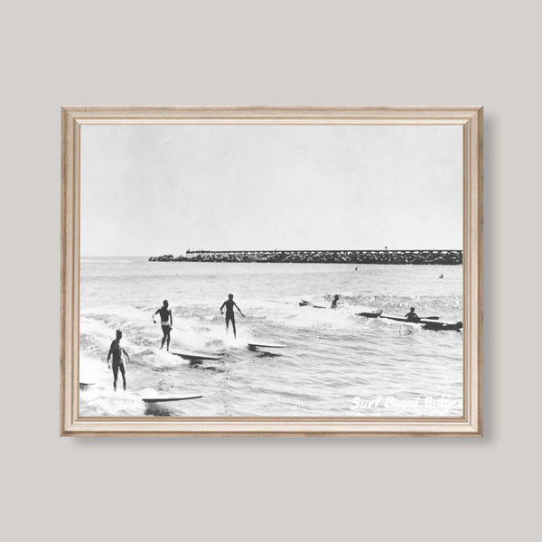 surfing photo print