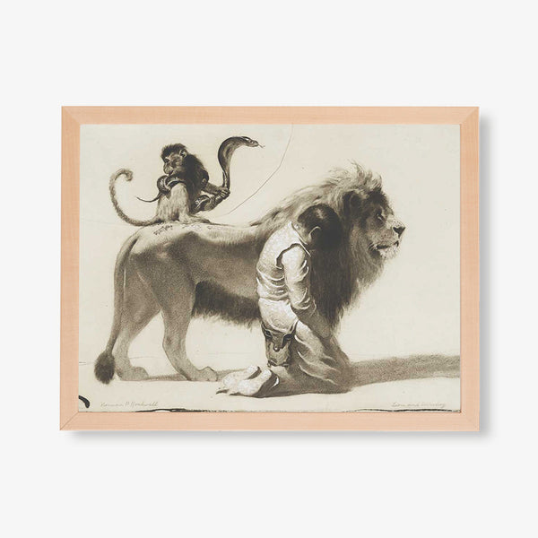 boy monkey snake lion rockwell