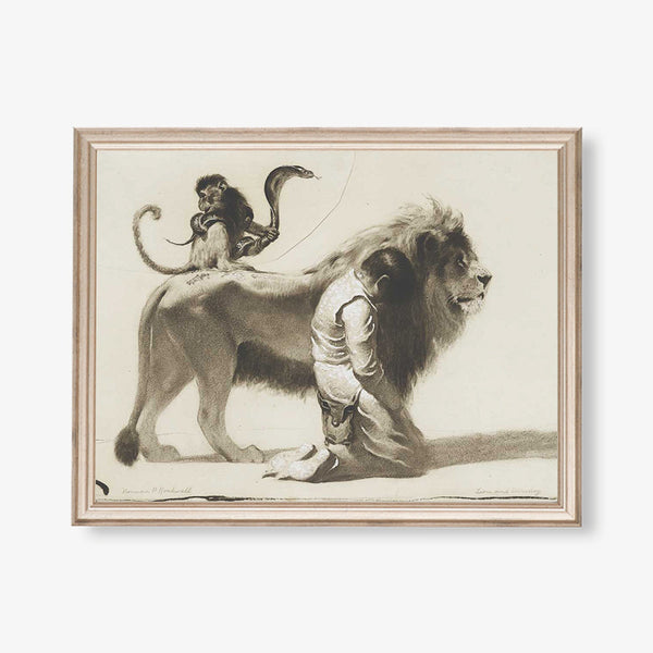 norman rockwell lion drawing