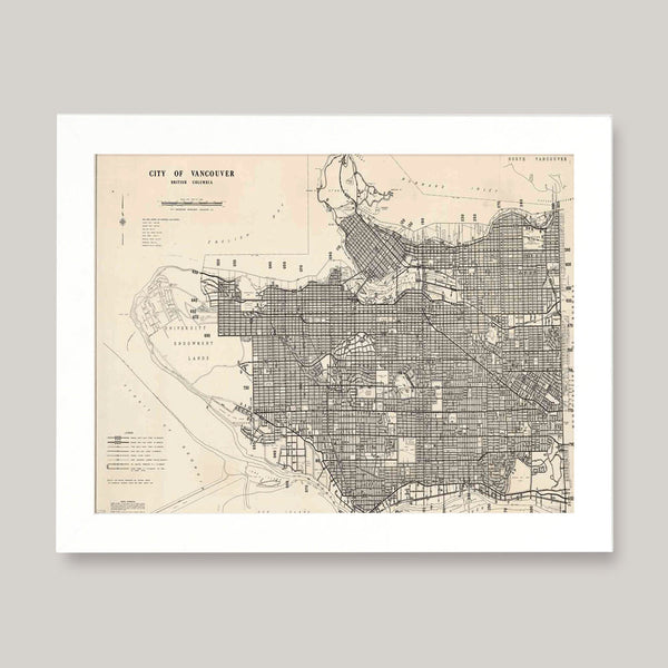 vintage vancouver map