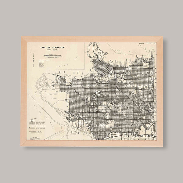 vancouver hand drawn maps