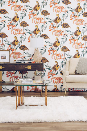 vintage flamingo wallpaper