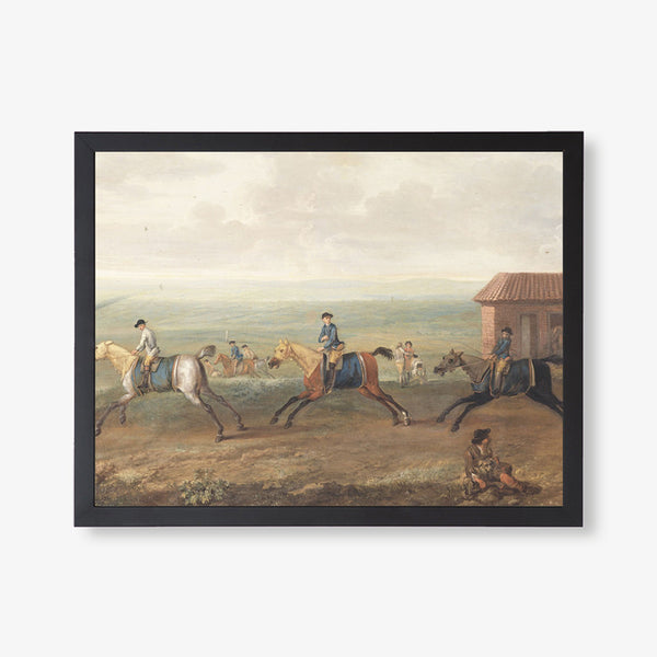 antique horse painting