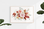 canvas flower roses print