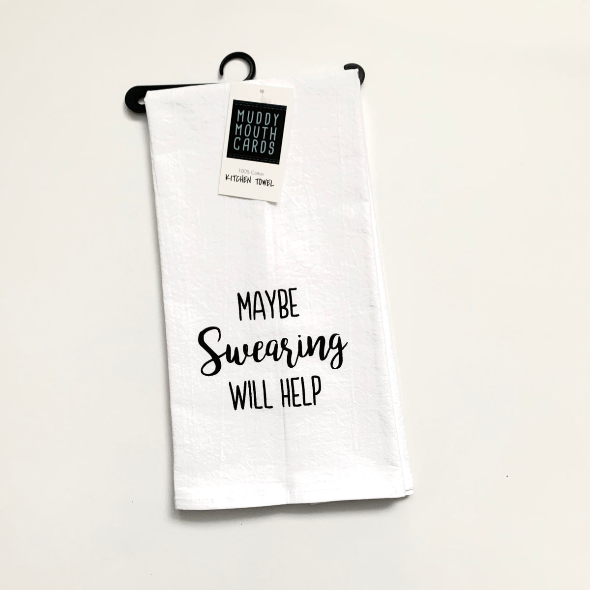 Muddy Mouth Cards Towel— Maybe Swearing Will Help