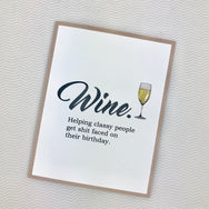 Wine Helps Classy People card