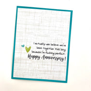 Anniversary I Actually Can Believe We're Together because I'm Fucking Perfect card