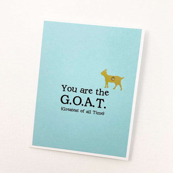 Encourage Congrats Love Anniversary GOAT Greatest of All Time card