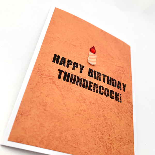 Birthday Happy Birthday Thundercock card