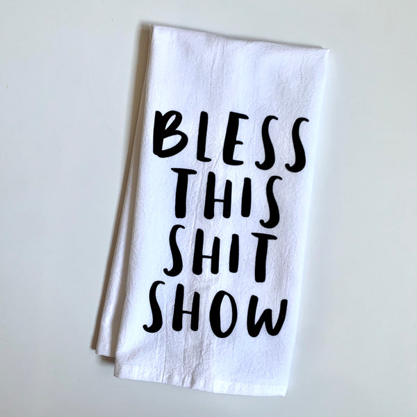 Muddy Mouth Cards Towel— Bless this Shit Show