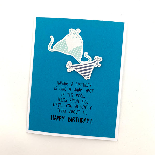Birthday Warm Spot in the Pool card