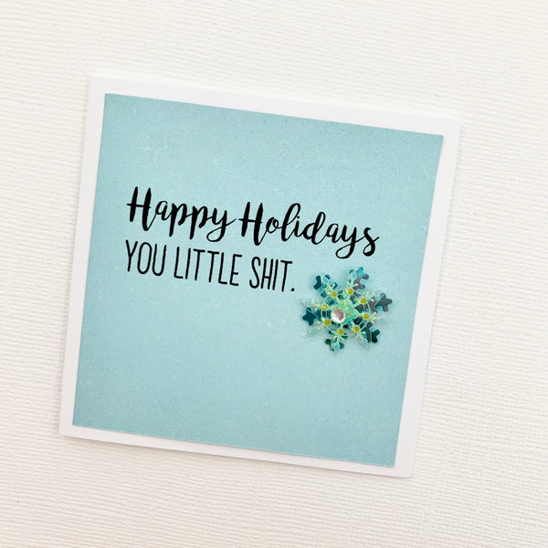 Mini Holiday little shit card