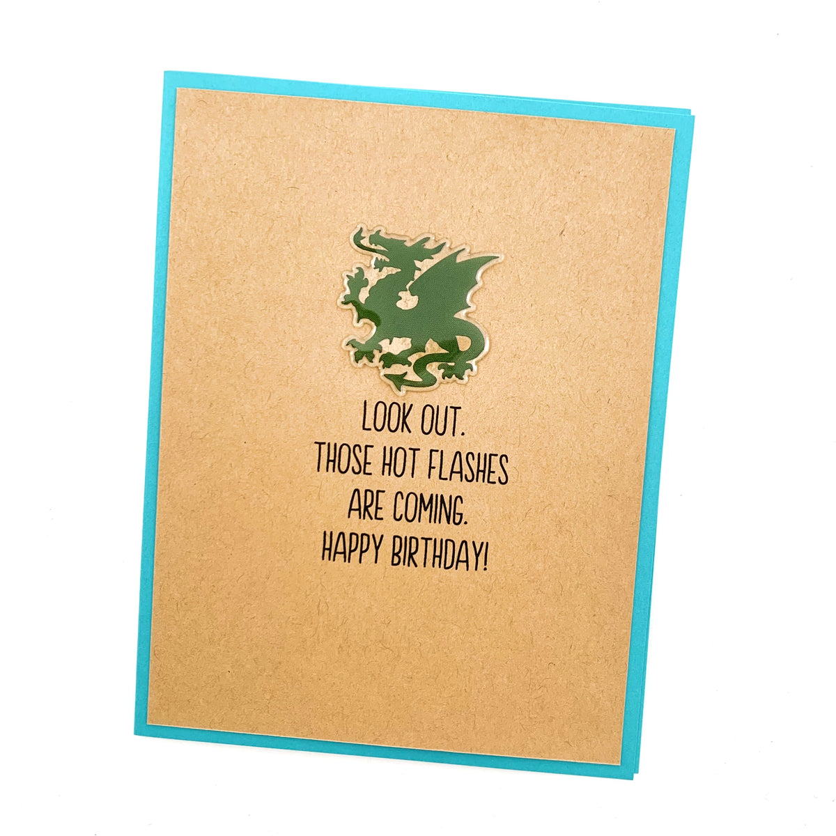 Birthday Hot Flashes Dragon card