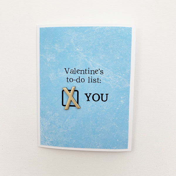 Valentine To-Do List card