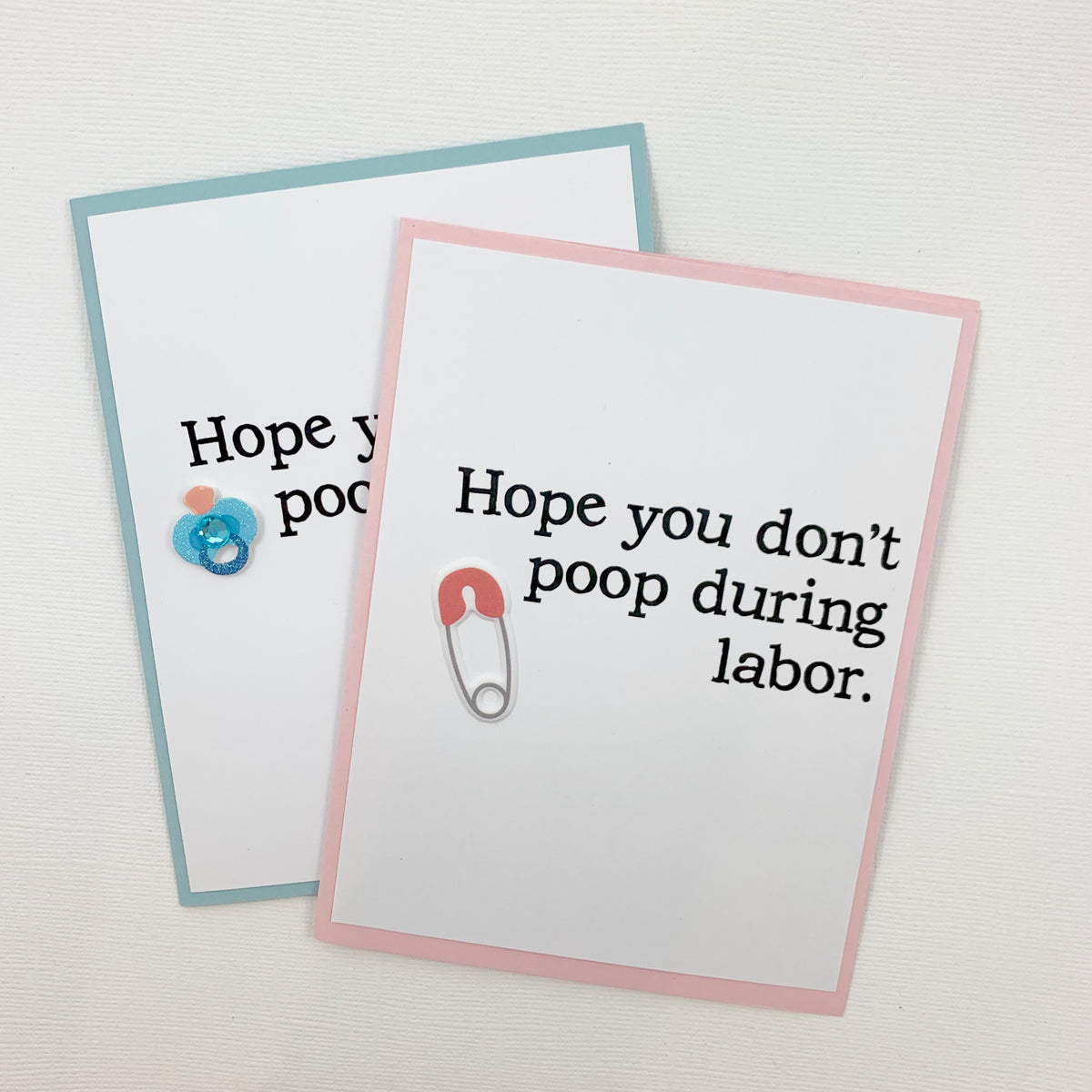 Baby Don't Poop During Labor Baby card