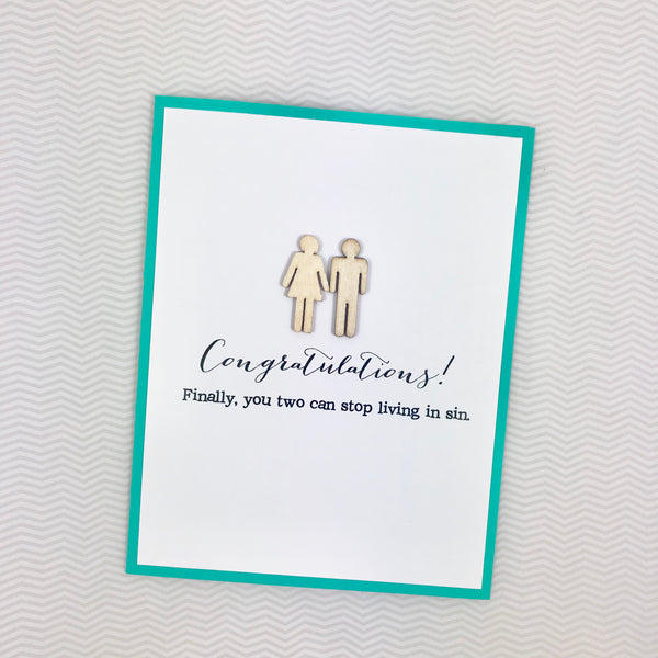 Wedding Stop Living in Sin Wedding card