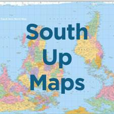 South Up Maps & Postcards