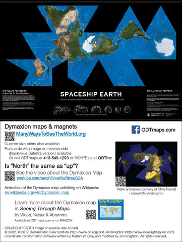 "SPACESHIP EARTH cards (6x9"" Map-card) - 25-pack"