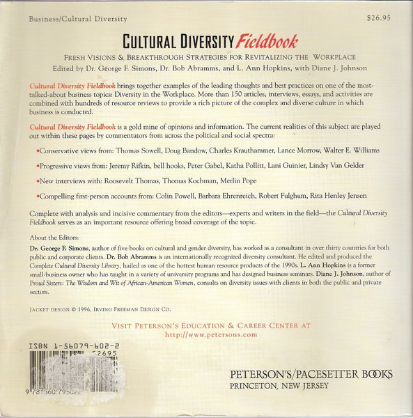 Cultural Diversity Fieldbook * Diversity - Hardcopy - available on AMAZON