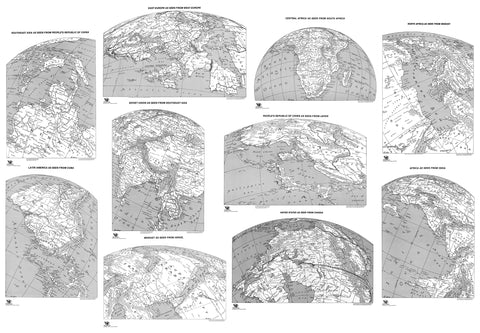 Global Perspective Map set by Russell Lenz - 11x16 - paper - Clearance 5 sets for $150