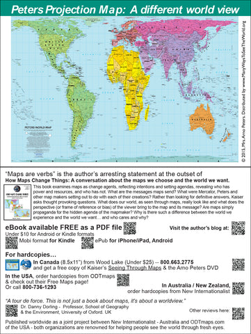 "Peters Map-cards - 6x9"" - with QR code to free download How Maps Change Things"