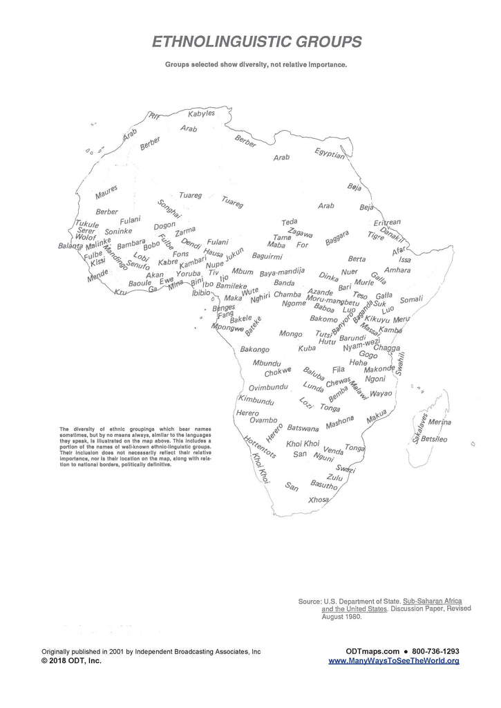 Africa: Ethnolinguistic Groups * digital $1 download