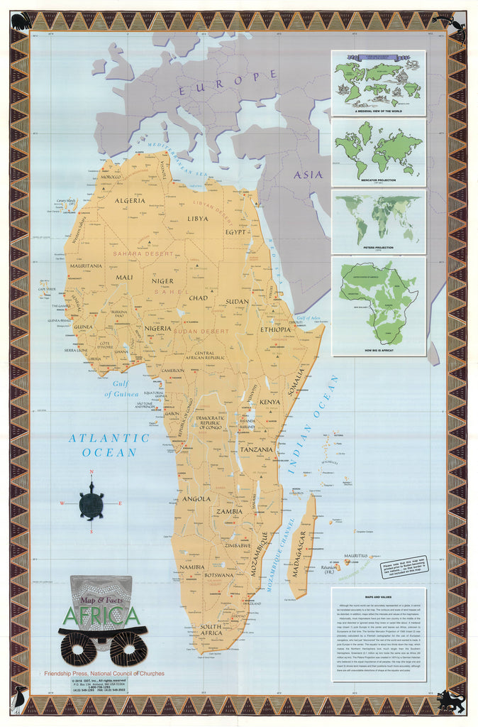 Peters Map of Africa * digital $3.95 download - includes 8 pages of text