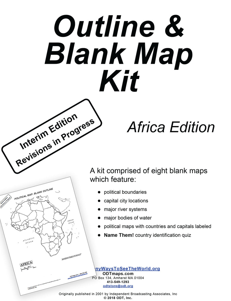 Africa Outline Map Kit - 8 pages - Free download