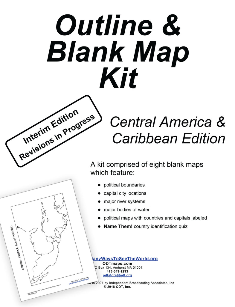 Caribbean and Central America Outline Map Kit - 10 pages - Free ...