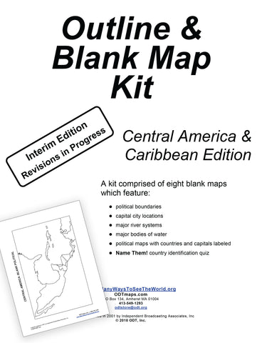 Caribbean and Central America Outline Map Kit * digital - free * 10 pages
