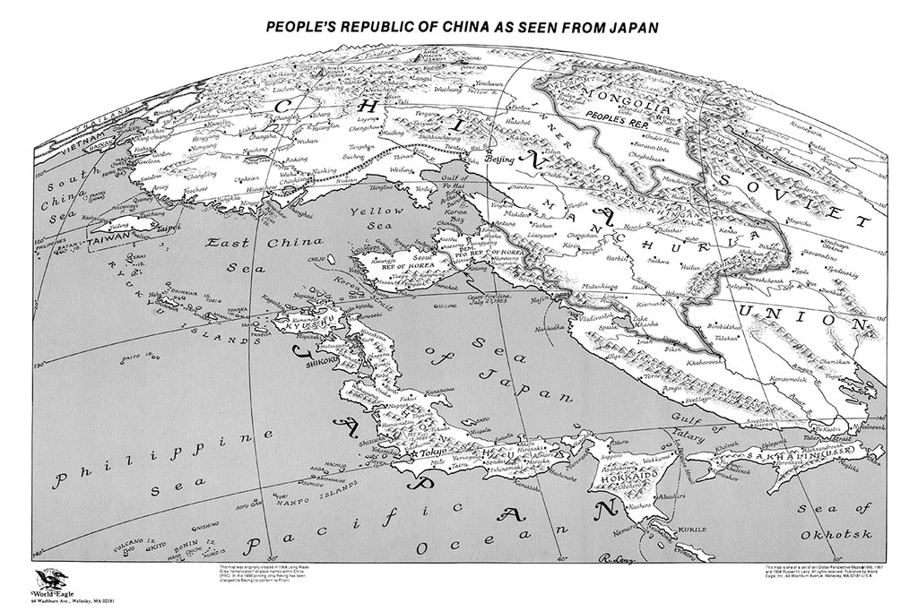Global perspective map set by russell lenz many ways to see the world global perspective map set by russell lenz 11x16 paper gumiabroncs Choice Image