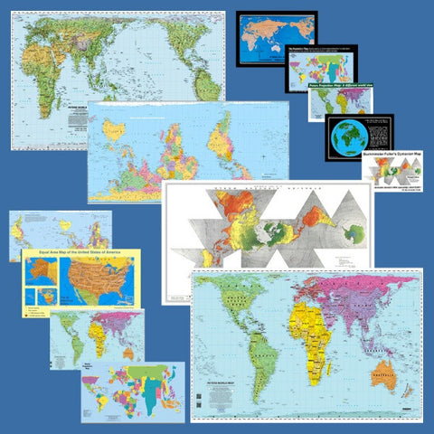 Equal Area Map Special - paper folded maps