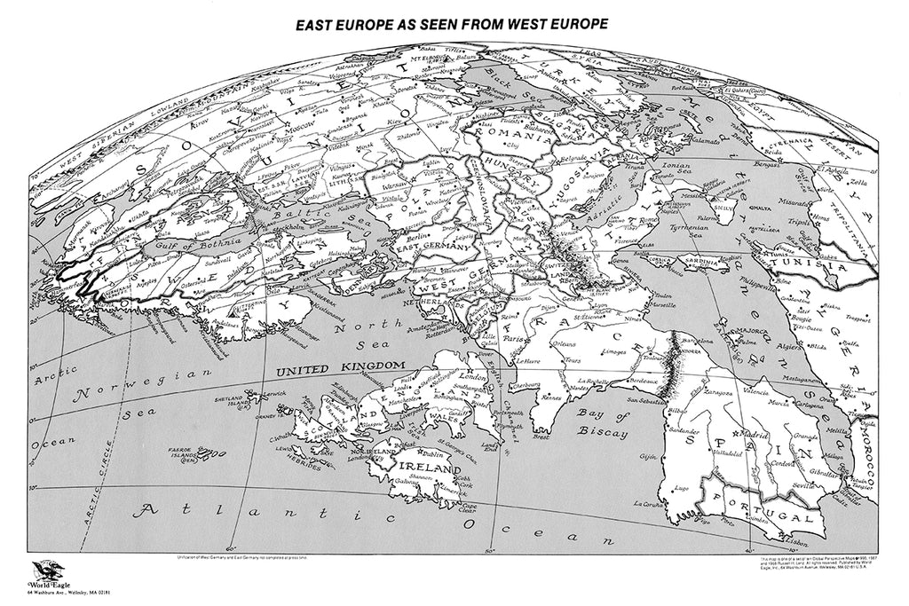 East Europe as seen from West Europe - $1 digital download