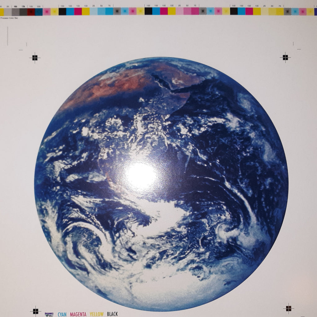 "Earth from Space - Printer's Proof - card stock 7"" diameter"