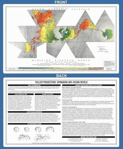 Buckminster Fuller Dymaxion Desktop Map Explantion - Hardcopy