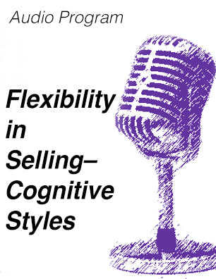 Flexibility in Selling Audio MP3 file (Cognitive Styles) - diversity training session