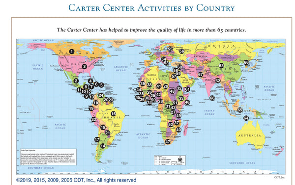 Hobo-Dyer Nobel Peace Prize Map * digital - free * used by the Carter Center