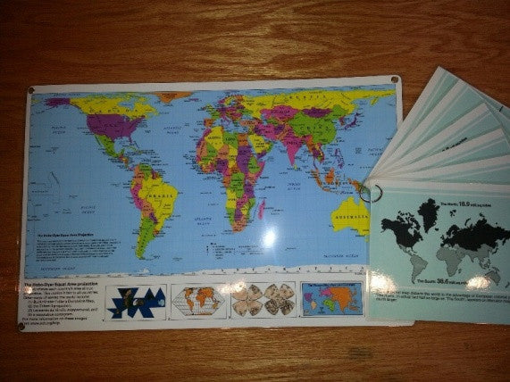 Hobo-Dyer Map Mini Display with Mercator Comparison Panels