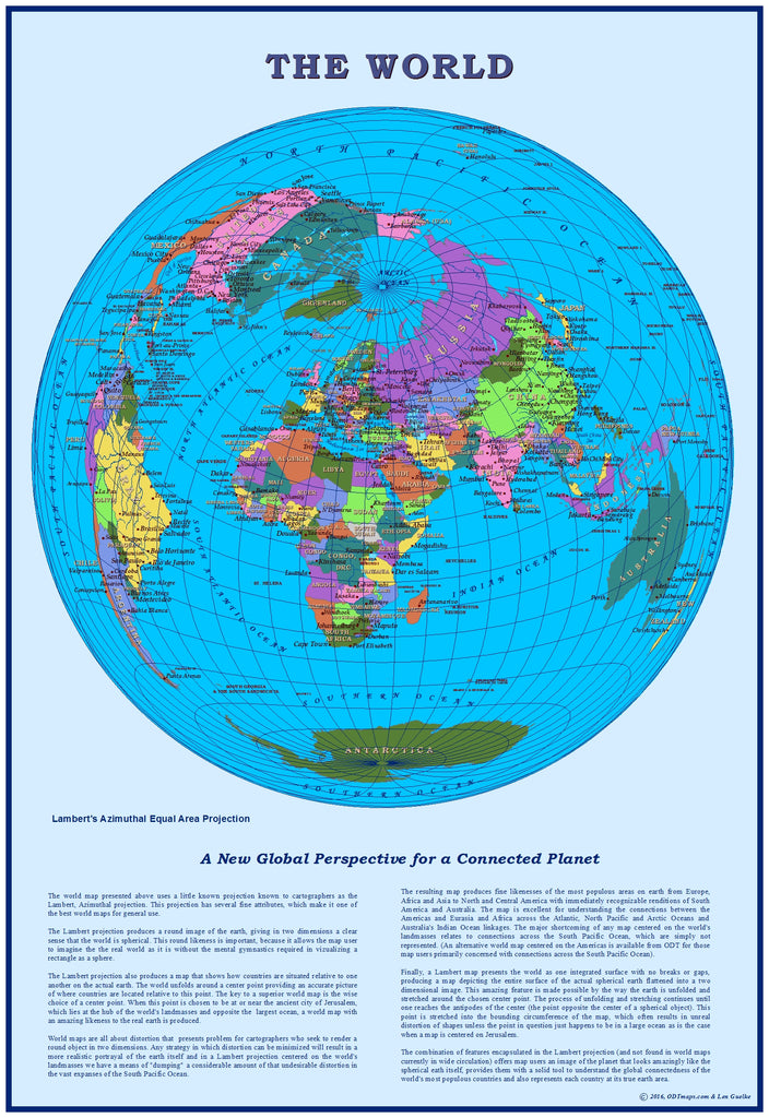 Jerusalem-centered World Map  Digital Download - personal use only - ON SALE $1.95