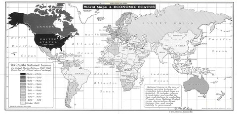 Map of Economic Status * digital $1 download for personal use
