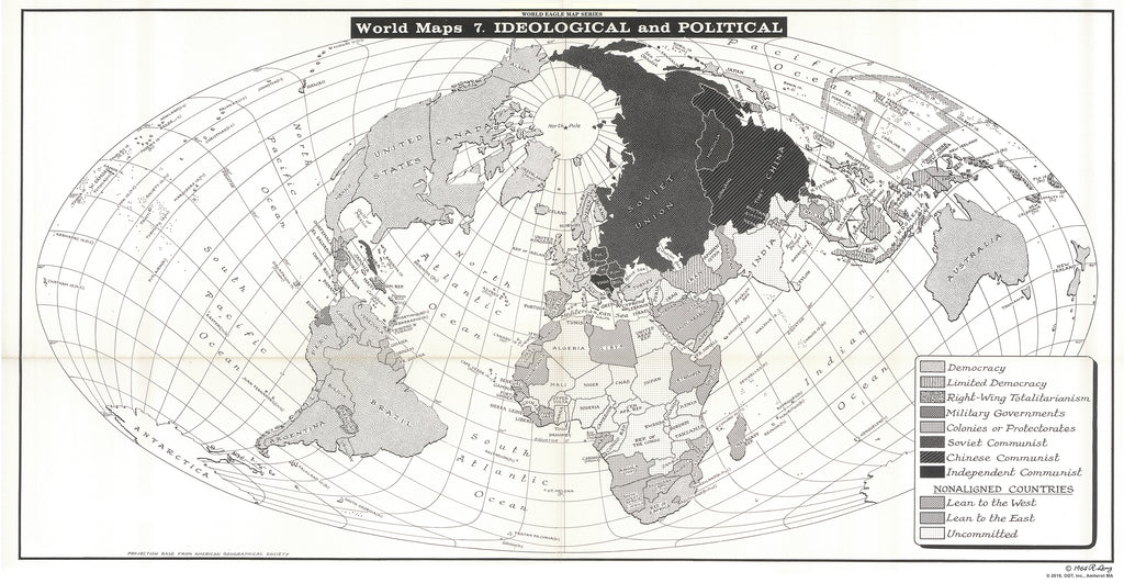 Map of Ideological & Political Orientation - Circa 1964 - $1 download