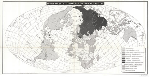 Map of Ideological & Political Orientation - Circa 1964 * digital $1 download