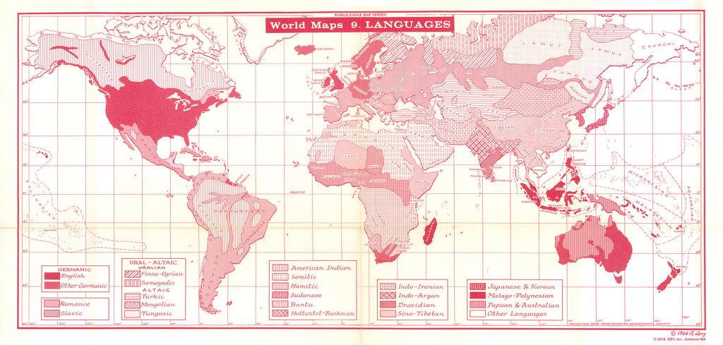 Map of the World's Languages - $1 download for personal use