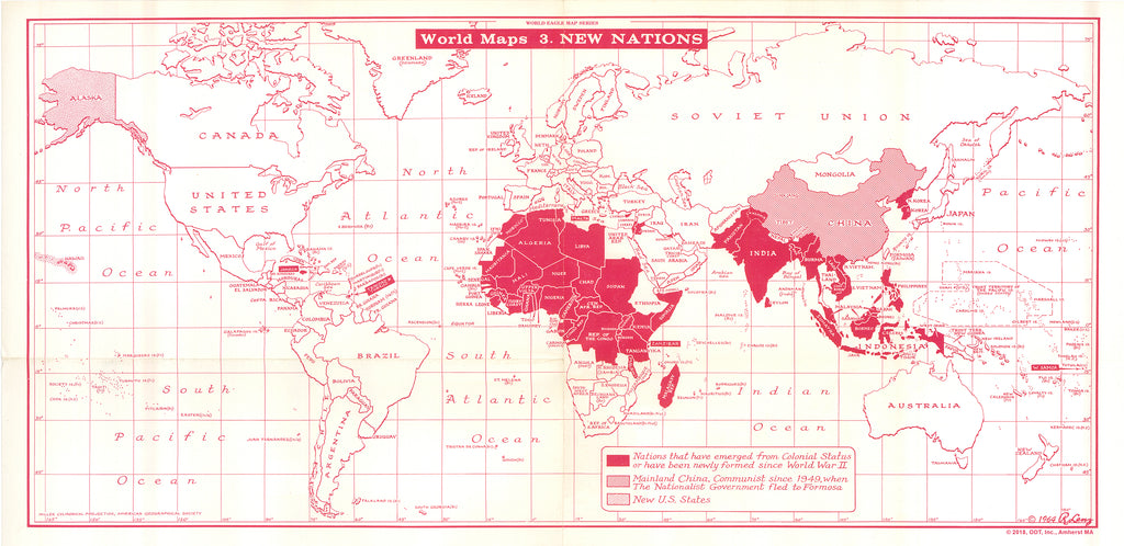 Lenz 1964 Map of New Nations * digital license $100 and up