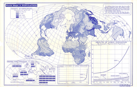Map of Population - 1964 * digital $1 download for personal use only